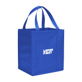 Non Woven Royal Grocery Tote-Side Text Design