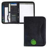 Insight Black Calculator Padfolio-Green Dot