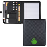 Carbon Fiber Tech Padfolio-Green Dot