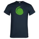 Navy T Shirt-Green Dot