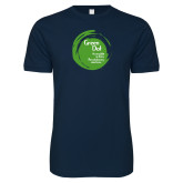 Next Level SoftStyle Navy T Shirt-Tagline Inside