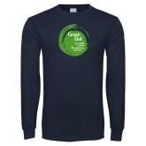 Navy Long Sleeve T Shirt-Tagline Inside
