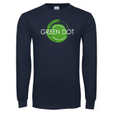 Navy Long Sleeve T Shirt-Text Across Design