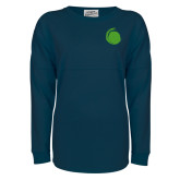 Navy Game Day Jersey Tee-Green Dot