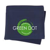 Navy Sweatshirt Blanket-Text Across Design