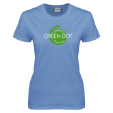 Ladies Arctic Blue T Shirt-Text Across Design