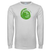 White Long Sleeve T Shirt-Tagline Inside