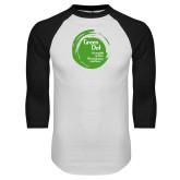 White/Black Raglan Baseball T Shirt-Tagline Inside