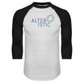 White/Black Raglan Baseball T Shirt-Alteristic
