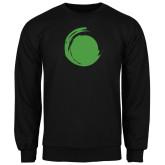 Black Fleece Crew-Green Dot