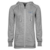 ENZA Ladies Grey/Black Marled Full Zip Hoodie-Alteristic