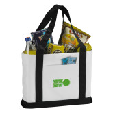 Contender White/Black Canvas Tote-Everyone Everyday Dot