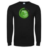 Black Long Sleeve T Shirt-Tagline Inside