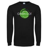 Black Long Sleeve T Shirt-Text Across Design