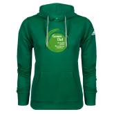 Adidas Climawarm Dark Green Team Issue Hoodie-Tagline Inside