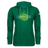 Adidas Climawarm Dark Green Team Issue Hoodie-Text Across Design