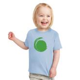Toddler Light Blue T Shirt-Green Dot