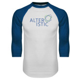 White/Royal Raglan Baseball T Shirt-Alteristic