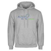 Grey Fleece Hoodie-Alteristic w Tagline