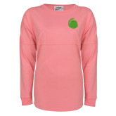 Pink Game Day Jersey Tee-Green Dot