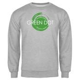Grey Fleece Crew-Text Across Design