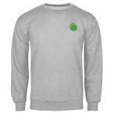 Grey Fleece Crew-Green Dot
