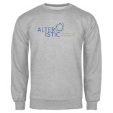 Grey Fleece Crew-Alteristic w Tagline