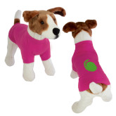 Classic Fuchsia Dog T Shirt-Green Dot