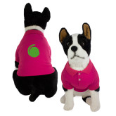 Classic Fuchsia Dog Polo-Green Dot