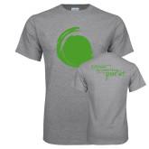 Grey T Shirt-Green Dot