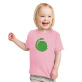 Toddler Pink T Shirt-Green Dot