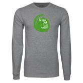 Grey Long Sleeve T Shirt-Tagline Inside