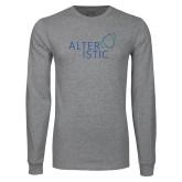 Grey Long Sleeve T Shirt-Alteristic