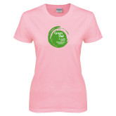 Ladies Pink T Shirt-Tagline Inside