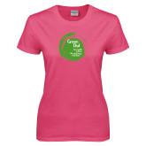 Ladies Fuchsia T Shirt-Tagline Inside