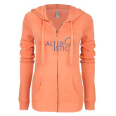 ENZA Ladies Coral Light Weight Fleece Full Zip Hoodie-Alteristic