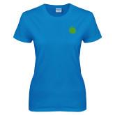 Ladies Sapphire T Shirt-Green Dot