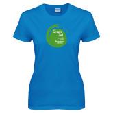 Ladies Sapphire T Shirt-Tagline Inside