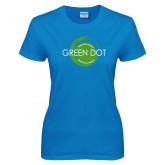 Ladies Sapphire T Shirt-Text Across Design