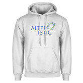 White Fleece Hoodie-Alteristic