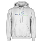 White Fleece Hoodie-Alteristic w Tagline