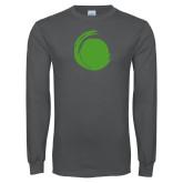 Charcoal Long Sleeve T Shirt-Green Dot