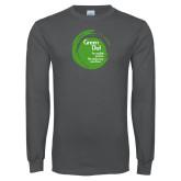 Charcoal Long Sleeve T Shirt-Tagline Inside