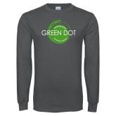 Charcoal Long Sleeve T Shirt-Text Across Design