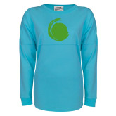 Turquoise Game Day Jersey Tee-Green Dot