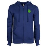 ENZA Ladies Royal Fleece Full Zip Hoodie-Green Dot