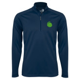 Syntrel Navy Interlock 1/4 Zip-Green Dot