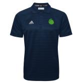 Adidas Climalite Navy Jacquard Select Polo-Green Dot