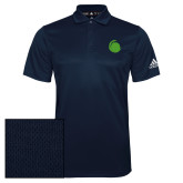 Adidas Climalite Navy Grind Polo-Green Dot