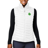 Columbia Lake 22 Ladies White Vest-Green Dot